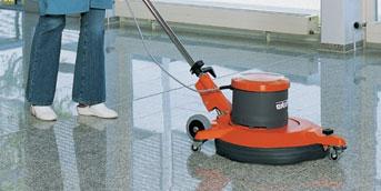 Floor-scrubbing
